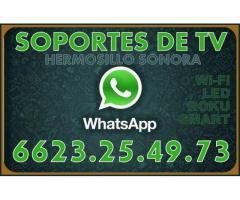 SOPORTES DE TV PARA PANTALLAS HERMOSILLO SONORA TelcelWhatsapp.6623-25-49-73, ING CHACON
