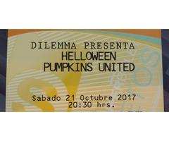 Dos boletos Concierto Helloween Pumpkins United Cd Mx