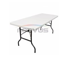 Venta de Mesas Multiusos cubierta de plastico inflado color blanco