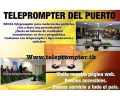 teleprompter en renta todo el sur de mexico
