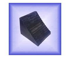 Calzas de hule neopreno Pirámide, Cuña y Media Luna.