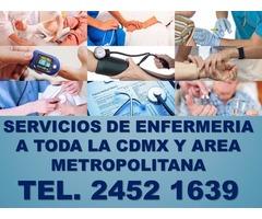 enfermeras y cuidadores, servicios a domicilio y en hospitales