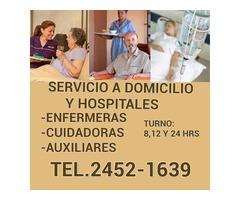 enfemeras y cuidadores para adultos mayores