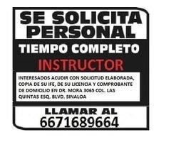 AUTOESCUELA CULIACAN ESTA CONTRATANDO INSTRUCTORES