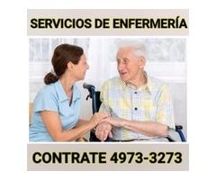 Enfermeras y cuidadores a domicilio y en hospitales en la CDMX y area metropolitana