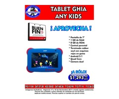 BUEN FIN: TABLET GHIA ANY KIDS DE PROMOCION