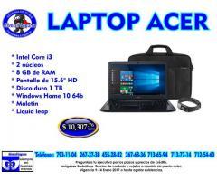 LAPTOP ACER CON CORE I3 + 8 GB DE RAM + REGALO
