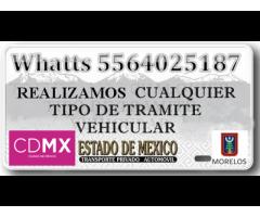 Gestoría y tramites vehiculares urgentes 5564025187