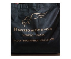 Chamaras de piel Marca R Rosso Black & Gold