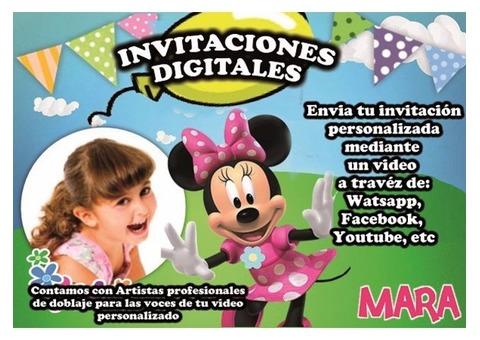 INVITACIONES DIGITALES PERSONALIZADAS (Empresa Fiestadivad)