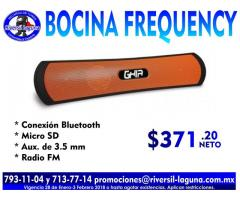 BOCINA BLUETOOTH FREQUENCY
