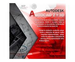 Próximo Diplomado AutoCAD 2 y 3D