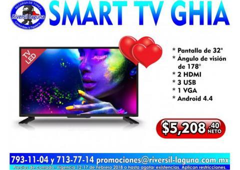SMART TV GHIA DE 32 PULGADAS
