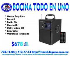 BOCINA MULTIFUNCION DE EASY LINE EL-994589