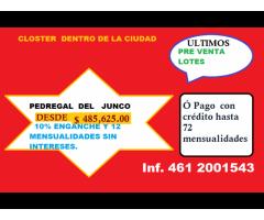 PRE VENTA LOTES PEDREGAL DEL JUNCO