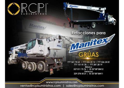Refacciones para gruas industriales Manitex