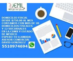 DOMICILIO FISCAL EN CDMX Y ESTADO DE MÉXICO DESDE $750