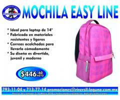 MOCHILA ROSA EASY LINE PARA LAPTOP
