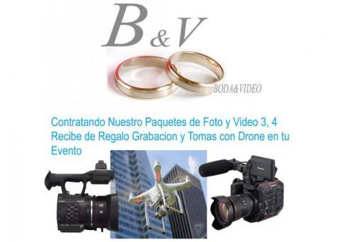 fotografia y video para boda  6000
