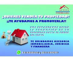 ¿Quieres vender tu propiedad? ¡Llámanos!