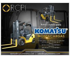 Refacciones para montacargas Komatsu