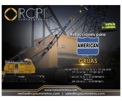 Refacciones para grúas industriaes American