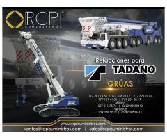 Refacciones para grúas industriales Tadano