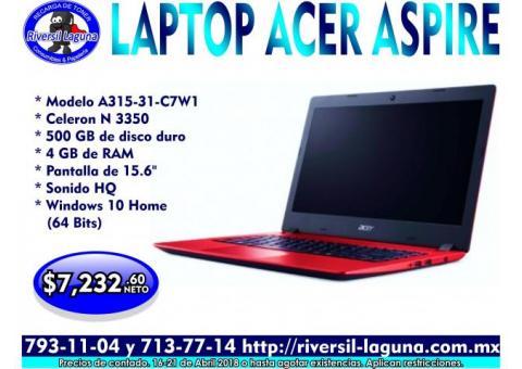 LAPTOP ACER ASPIRE A315-31C7W1