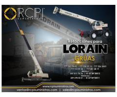 Venta de refacciones para grúas industriales Lorain