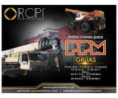 Venta de refacciones para grúas industriales PPM