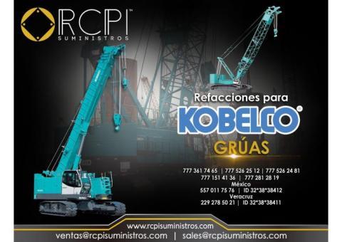 Venta de refacciones para grúas industriales Kobelco
