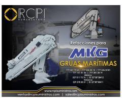 Refacciones para grúas marítimas MKG