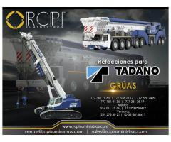 Venta de refacciones para grúas industriales Tadano