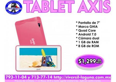 TABLET GHIA AXIS ROSA PARA MAMÁ