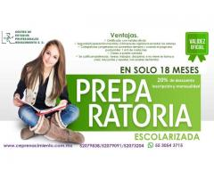 PREPARATORIA ESCOLARIZADA 18 MESES