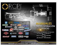 Manuales de servicio y partes para grúas industriales