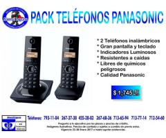 DUAL PACK DE TELEFONOS INALAMBRICOS PANASONIC