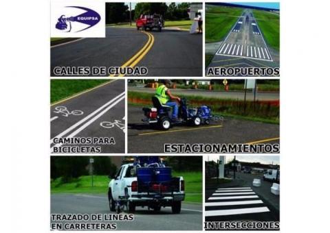 venta e instalaciones de pintalineas para carreteras en camiones