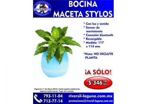 BOCINA MACETA DE STYLOS