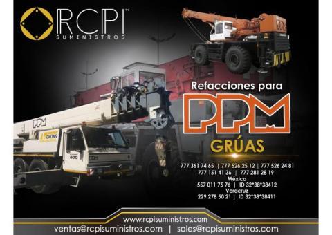 Refacciones para grúas equipo PPM