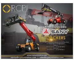 Refacciones y stackers para equipo Sany
