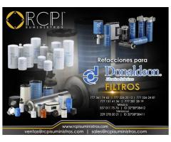Refacciones y filtros Donaldson para grúas industriales