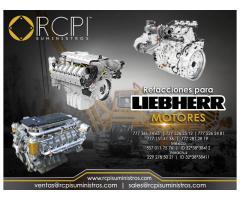 Venta de refacciones y motores Liebherr para grúas industriales