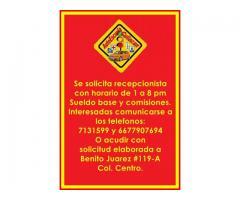 SE BUSCA EMPLEADA PARA AREA DE RECEPCION