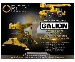 Refacciones para grúas y equipo de construcción Galion