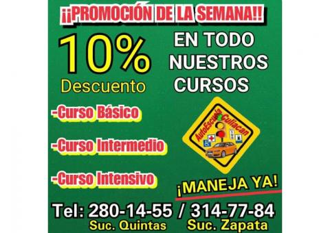 QUIERES CLASES DE MANEJO
