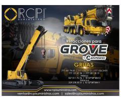 Refacciones para grúas industriales marca Grove