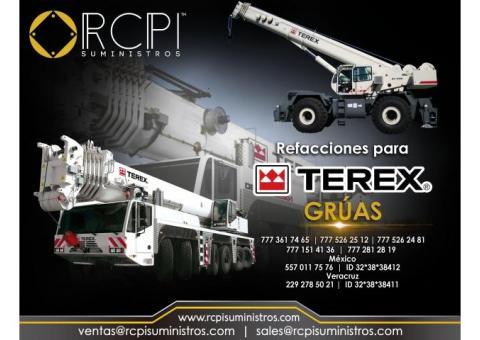 Refacciones para grúas industriales marca Terex