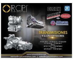 Transmisiones y convertidores para grúas Clark, Spicer, Dana, Twin Disc