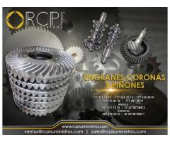 Refacciones, coronas, piñones y engranes para grúas industriales
